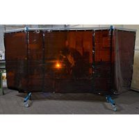 3 Panel Extra Heavy Duty Portable Bronze Welding Screen in use