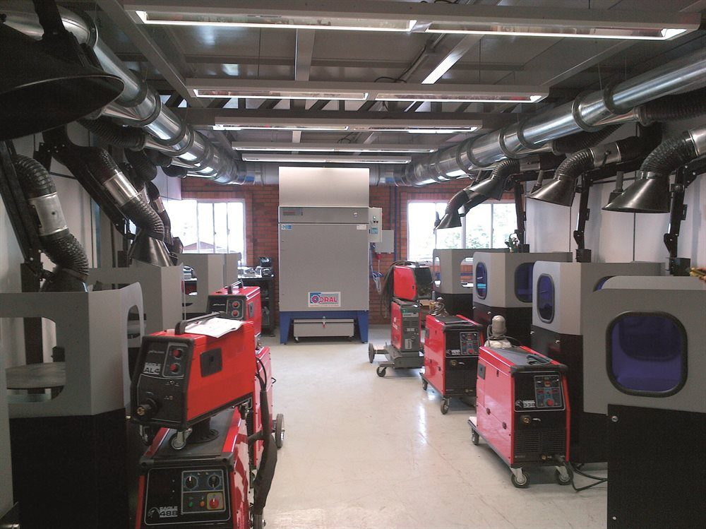 Welding Fume Extraction Systems for Colleges & Training Centres
