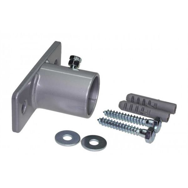 Wall Mounting Fixture for 1 inch Pipe, Galvanised with Fixings