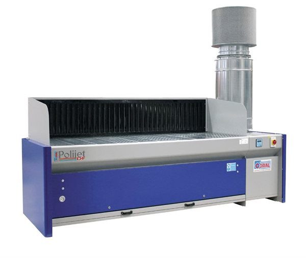 2500mm Downdraft bench with automatic filter cleaning system