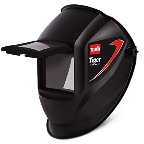 Telwin Tiger Welding Helmet with Flip-Up Shaded Lens