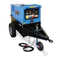 GENSET MPM 15/400 IC-L Welder Generator with Road Tow and Arc Welding leads