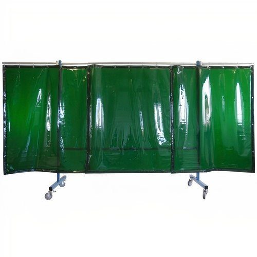 3 Panel Light Green Portable Welding Screen