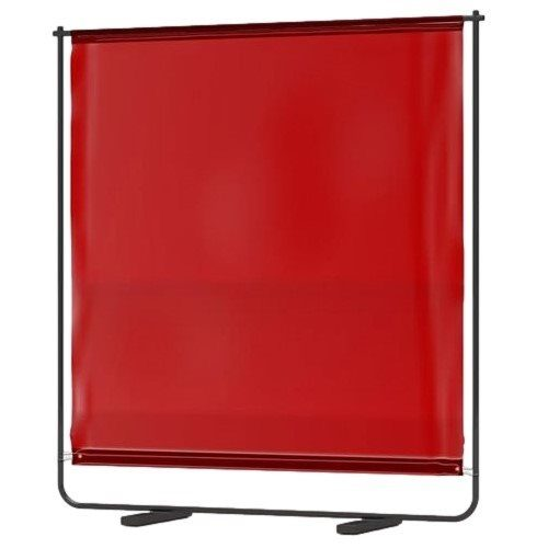 Portable Welding Screen with Frame Red/Amber