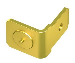 Brass single earthing tag