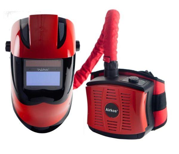 Kapio Red Side Vision S4 Air Fed Welding Helmet CR28S4