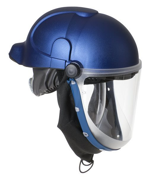 Battery Powered Air fed mask with Safety Helmet