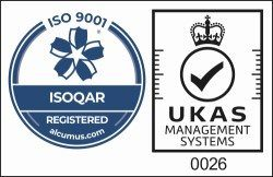 ISO 9001 ISOQAR Registered UKAS Management Systems