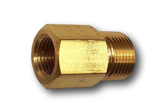 "3/8"" BSP Male - 1/4"" BSP Female Straight Adaptor - RH Thread"