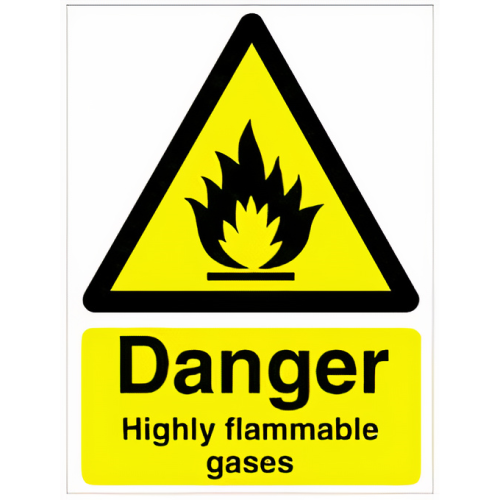 Flammable Gases - Rigid Safety Sign A4