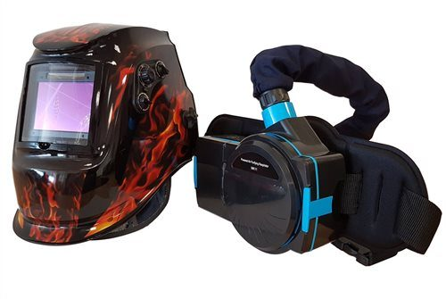 Max-Arc MK8000 Air Fed Welding Mask with Grinding Visor