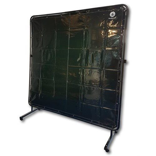 Green Portable Welding Screen 1800mm x 1800mm with Frame & Castors