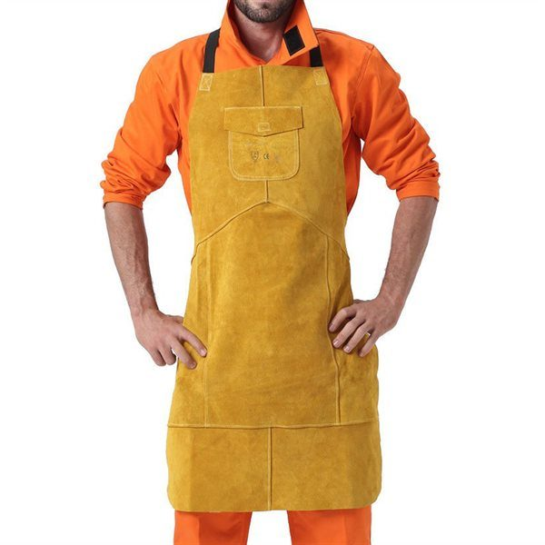 MasterWeld Premium Gold Leather Apron MWP-3101