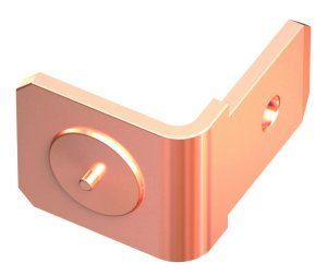Coppered steel single earthing tag