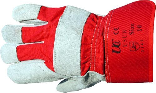 Heavy Duty Chrome Leather Palm Rigger Gloves 1