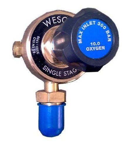 Oxygen Plugged Gas Regulator - Bottom Entry
