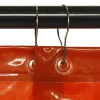 Eyelets with Metal Curtain Rings